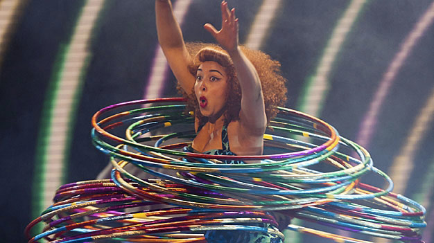 Marwa performing in Britain's Got Talent